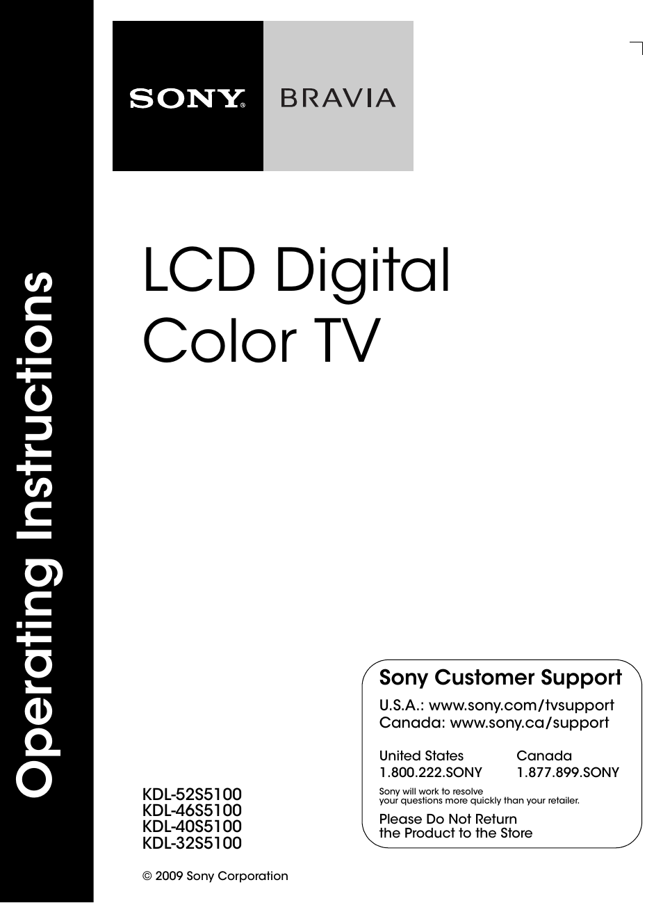 sony kdl 46s5100 user manual 24 pages also for kdl 32s5100 kdl rh manualsdir com Sony Stand Legs TV Stand for Sony KDL 40S504
