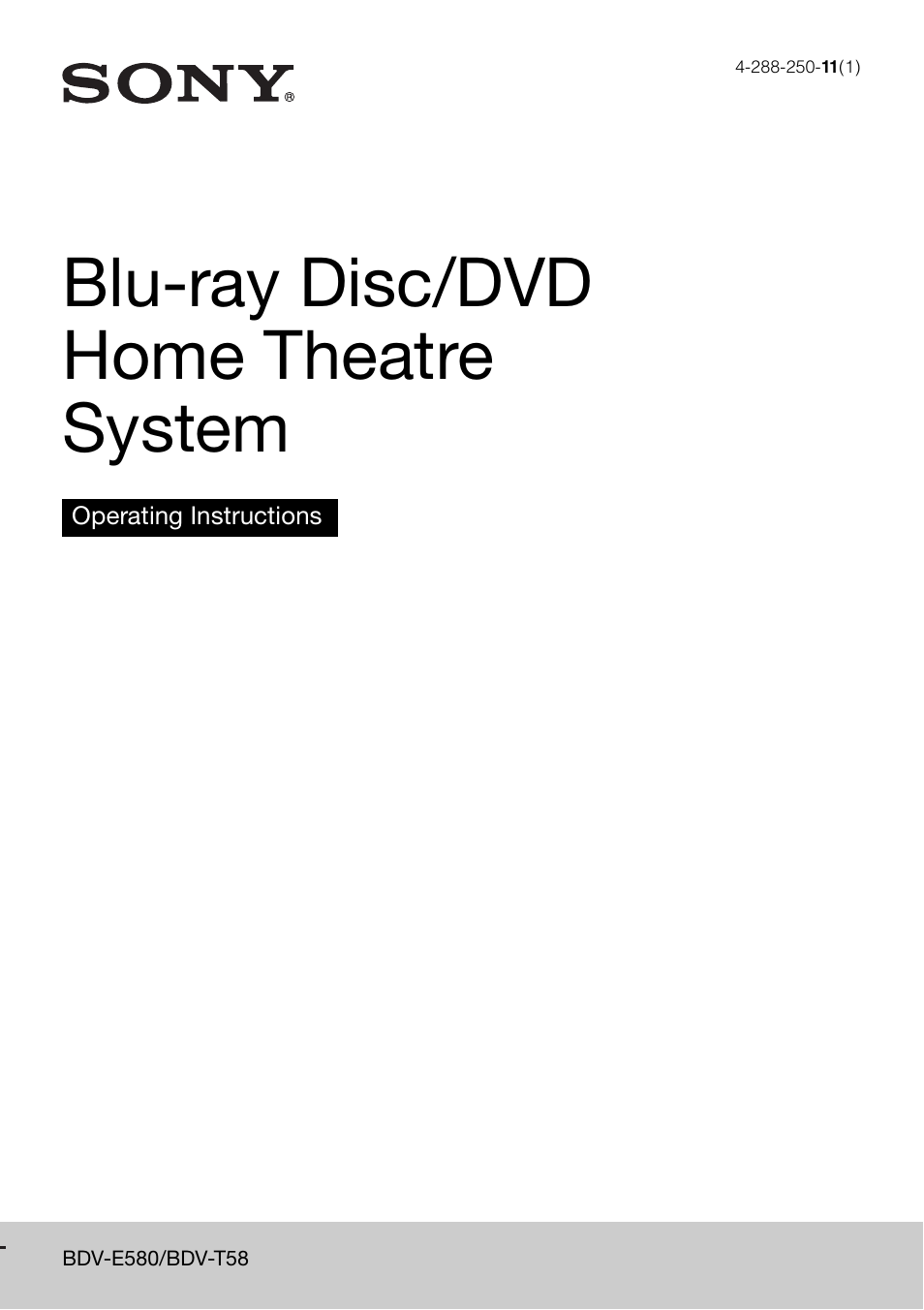 sony bdv t58 user manual 72 pages rh manualsdir com Sony BDV- N8100W 5 1 Sony BDV- N8100W
