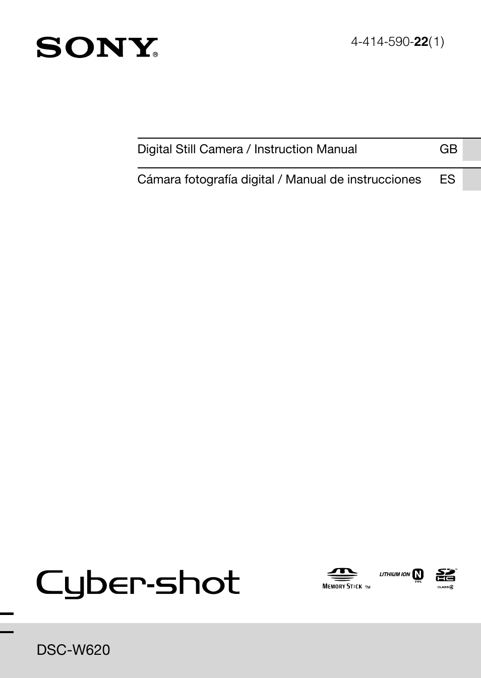 Download free pdf for sony cybershot,cyber-shot dsc-w620 digital.