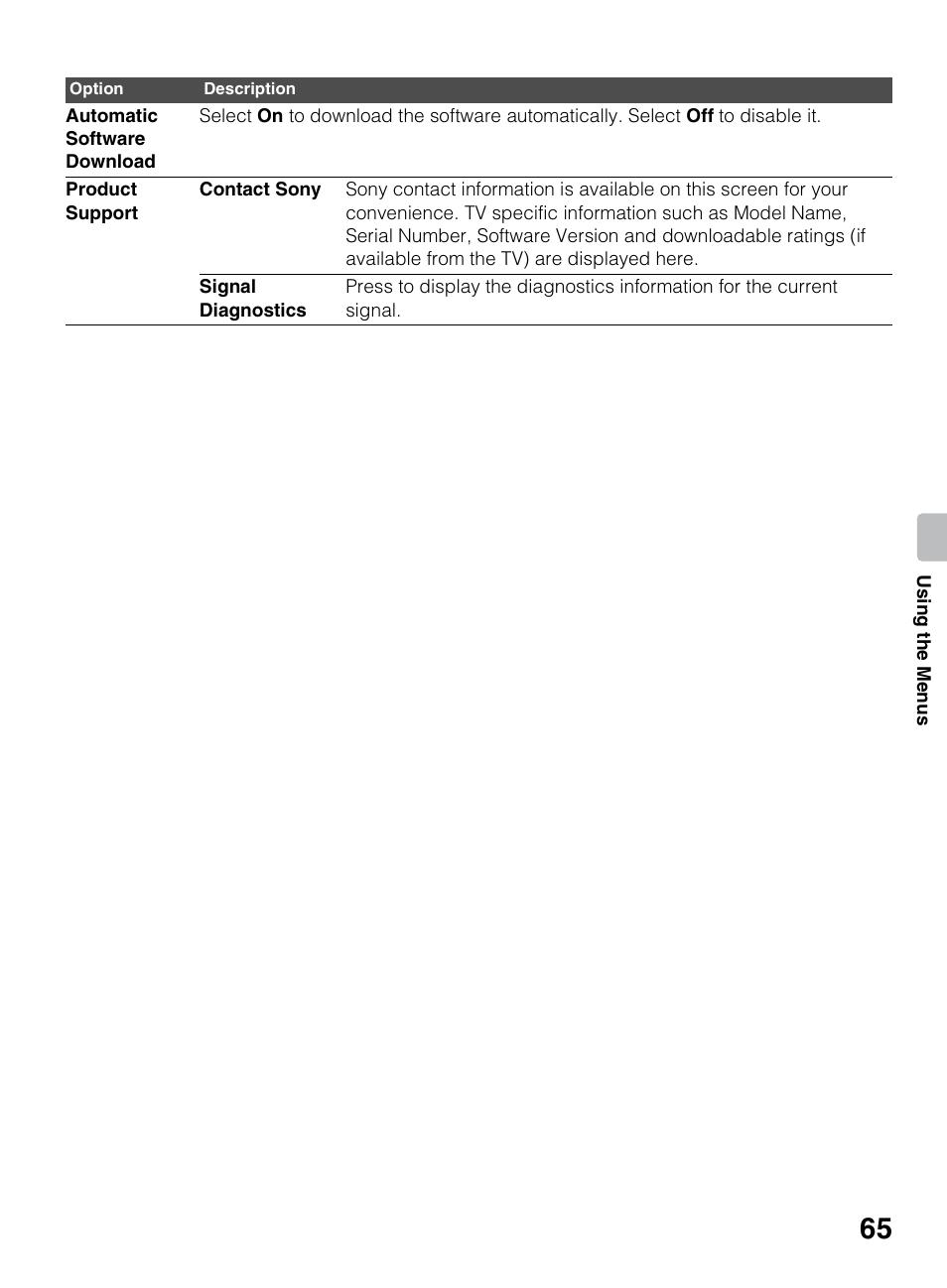 sony kdl 46ex640 user manual page 65 88 original mode also rh manualsdir com Switch On Sony Bravia XBR Switch On Sony Bravia XBR