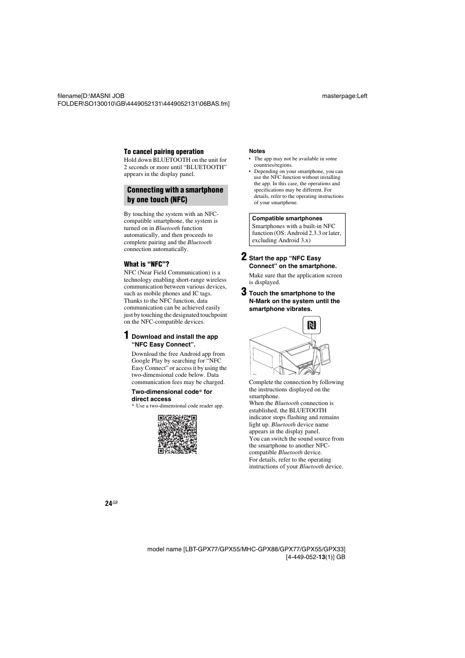 sony lbt gpx55 user manual page 24 44 original mode also for rh manualsdir com Sony ICF-C318 Manual English Sony Operating Manuals