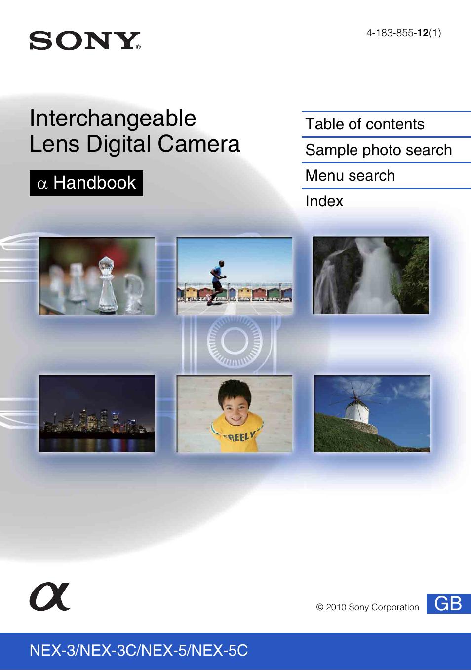 sony nex 3 camera user manual