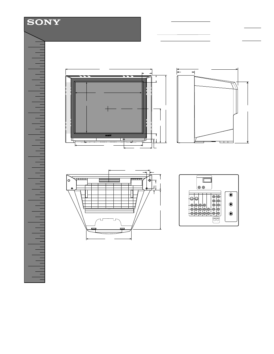 Sony KV-40XBR800 User Manual | 1 page
