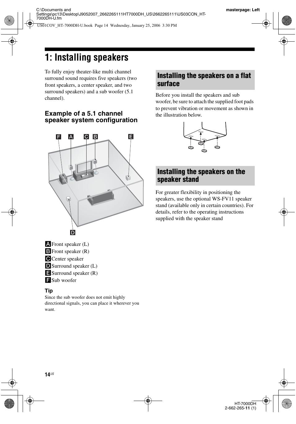 installing speakers sony str k7000 user manual page 14 84 rh manualsdir com sony str-k7000 remote sony str k700 manual