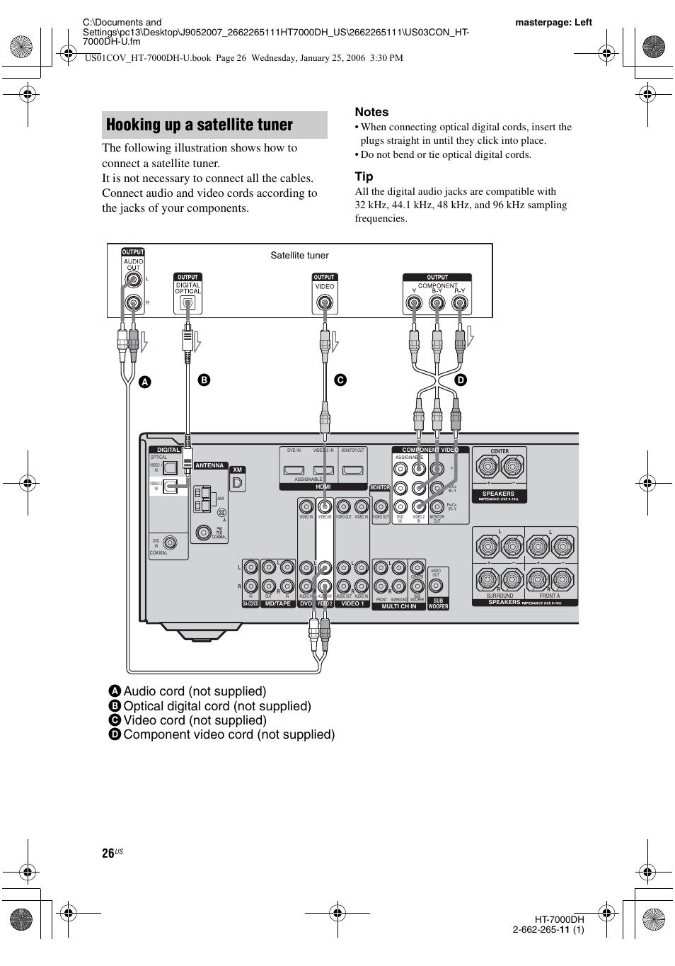 hooking up a satellite tuner satellite tuner sony str k7000 user rh manualsdir com sony str-k7000 specs sony str k700 manual