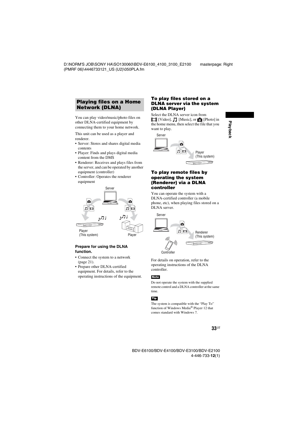 Sony BDV-E2100 User Manual   Page 33 / 72   Also for: BDV-E3100
