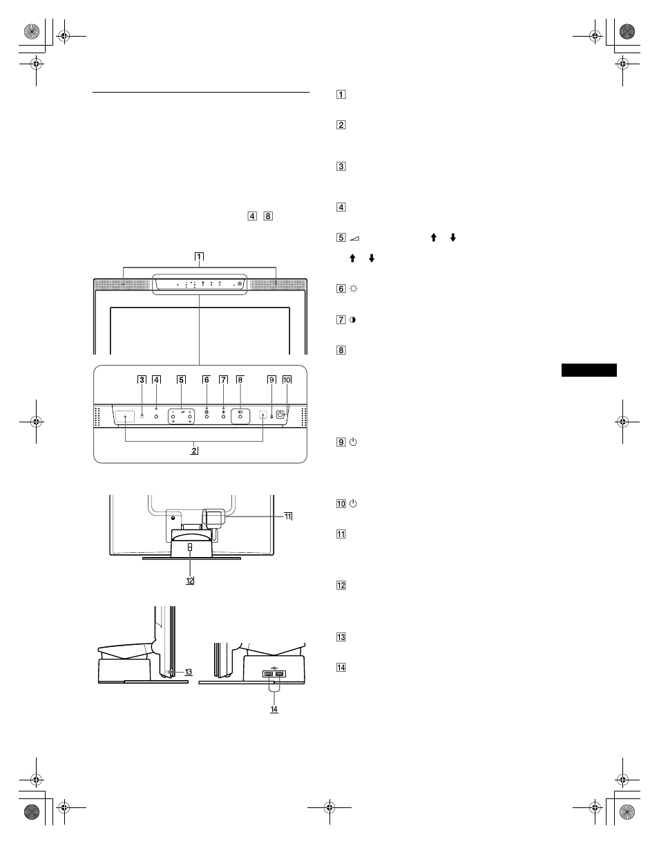 e15c1ecd401 Identifying parts and controls | Sony SDM-N80 User Manual | Page 5 / 124