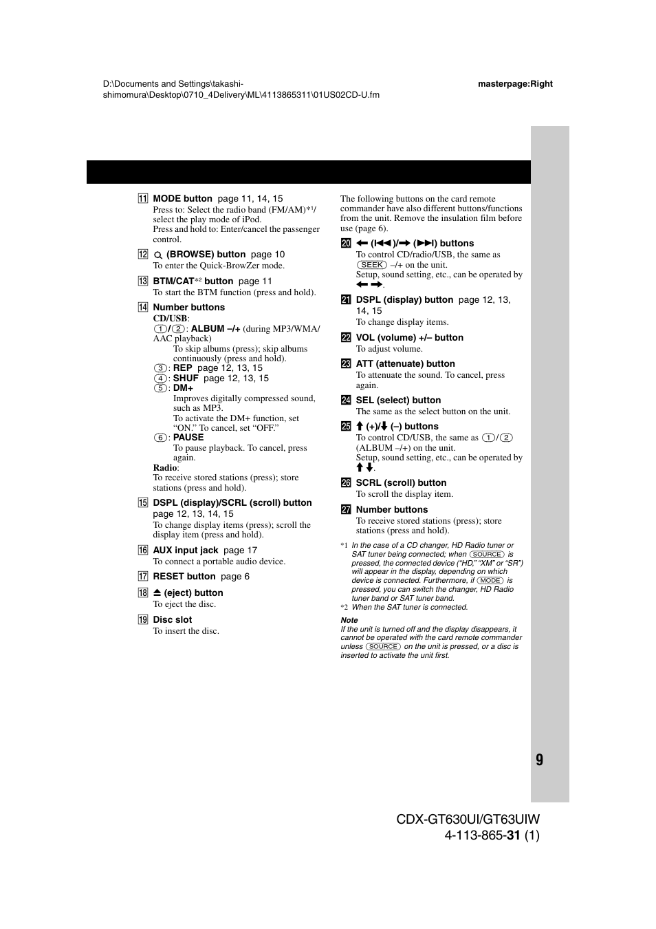 Sony Cdx Gt630ui User Manual Page 9 80 Original Mode Also Sony Cdx GT Wiring -Diagram Sony Cdx Gt630ui Wiring Diagram