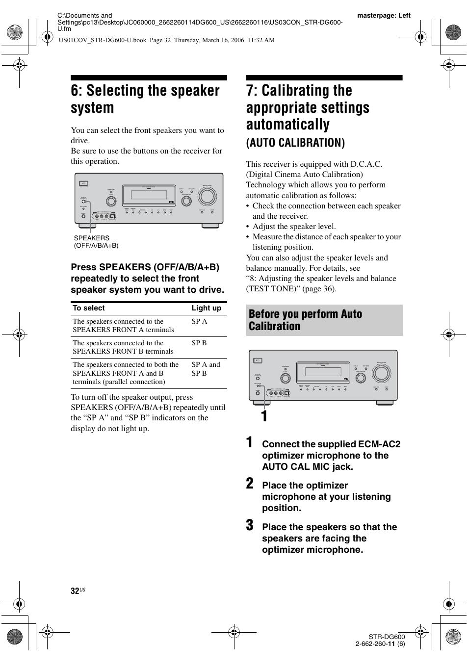 selecting the speaker system automatically auto calibration rh manualsdir com