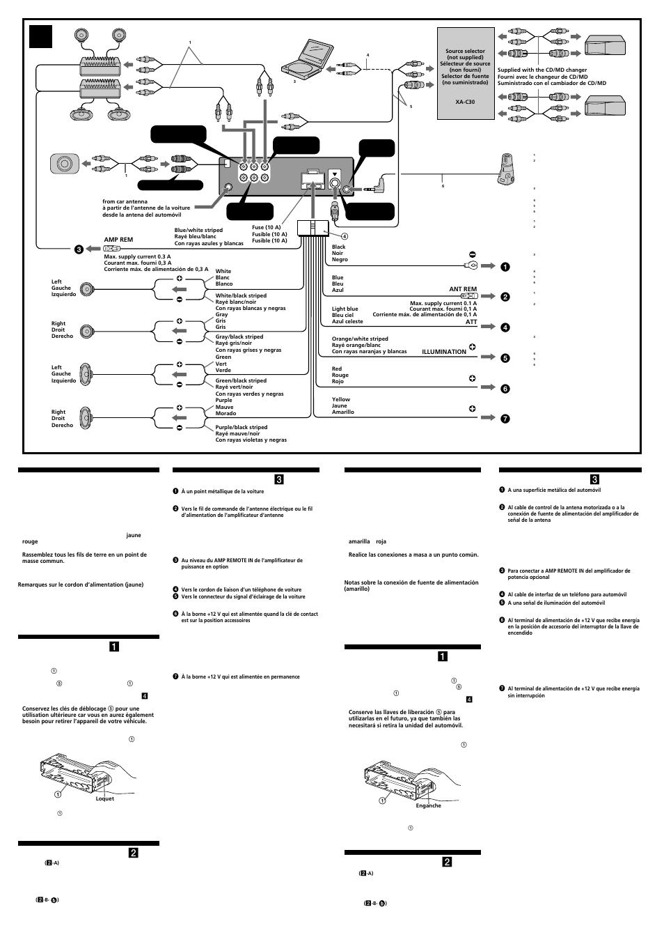 Sony Cdx M8800 Wiring Diagram Trusted Schematics M800 Fm Am Compact Disc Player Car Pictures Prcautions Liste Des Composants 1 Exemple De Raccordement 2 Gt250mp Source Cd