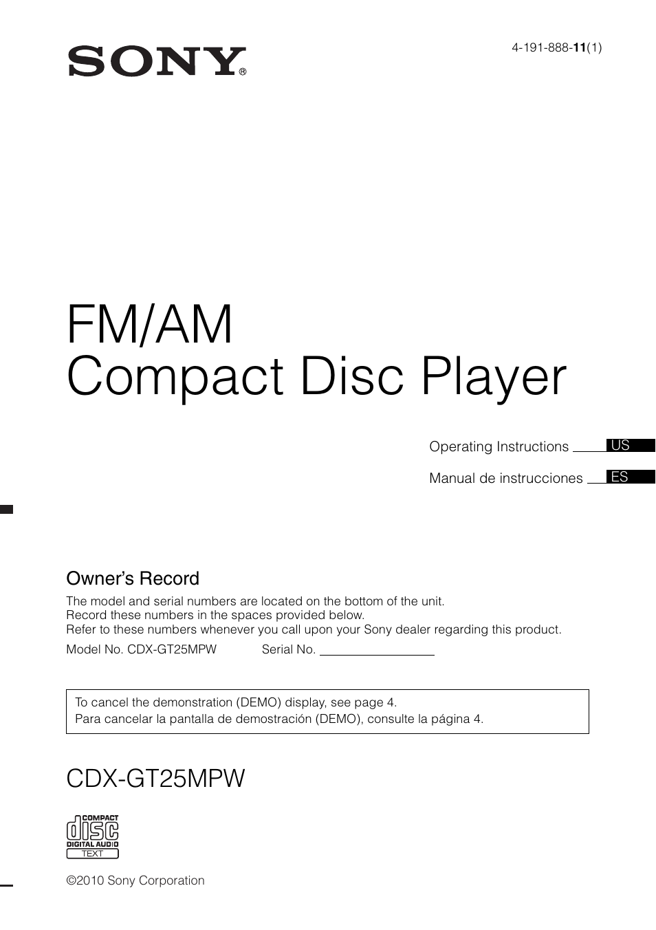 sony cdx gt25mpw user manual 36 pages rh manualsdir com