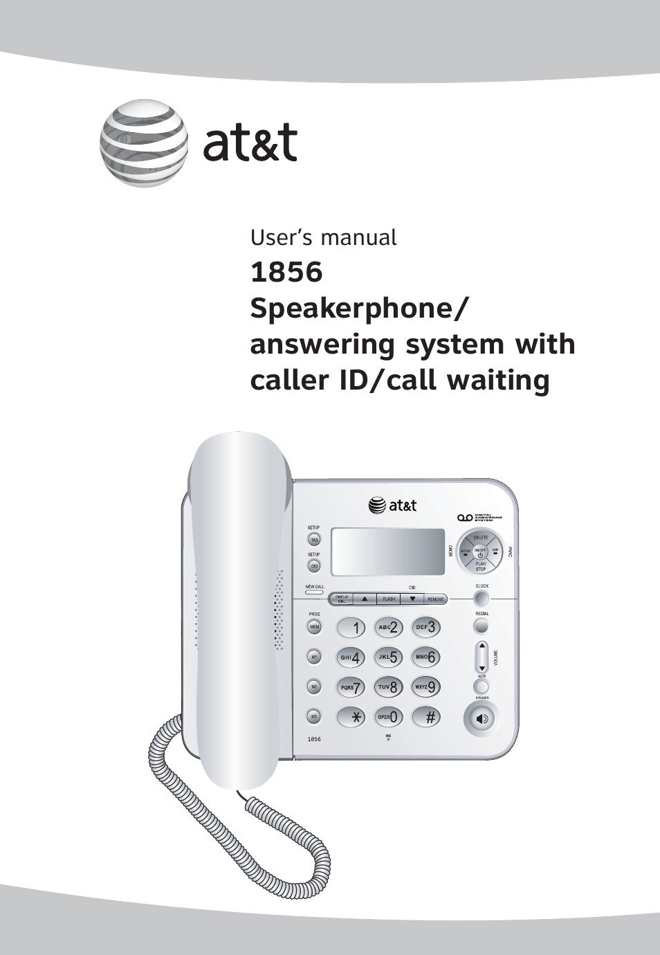 at t 1856 speakerphone user manual 50 pages rh manualsdir com att phone manual 1070 att phone manual cl82107