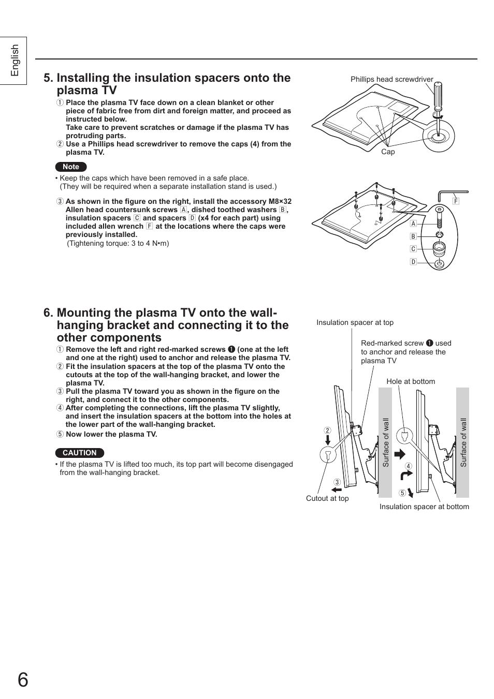 English | Panasonic TYWK4P1RW User Manual | Page 6 / 84
