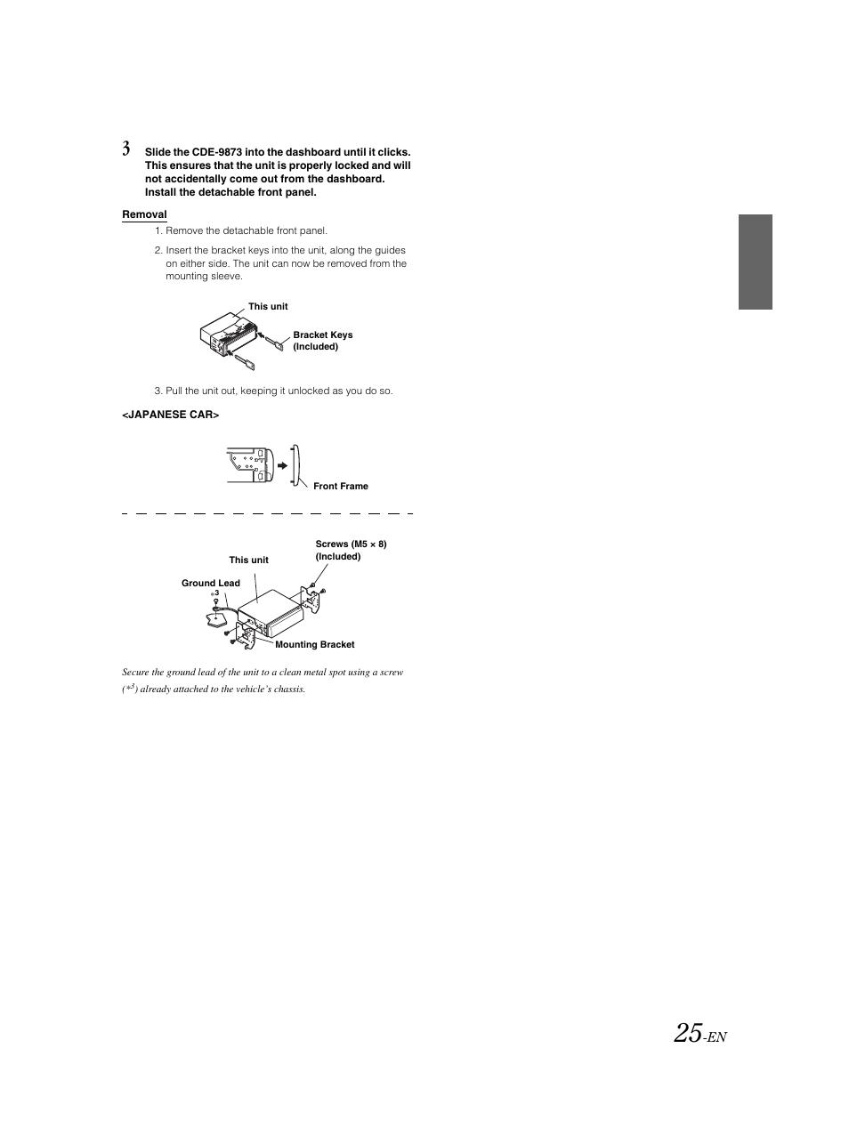 removal alpine cde 9873 user manual page 26 31 rh manualsdir com Alpine CDE BT Alpine CDE Aux
