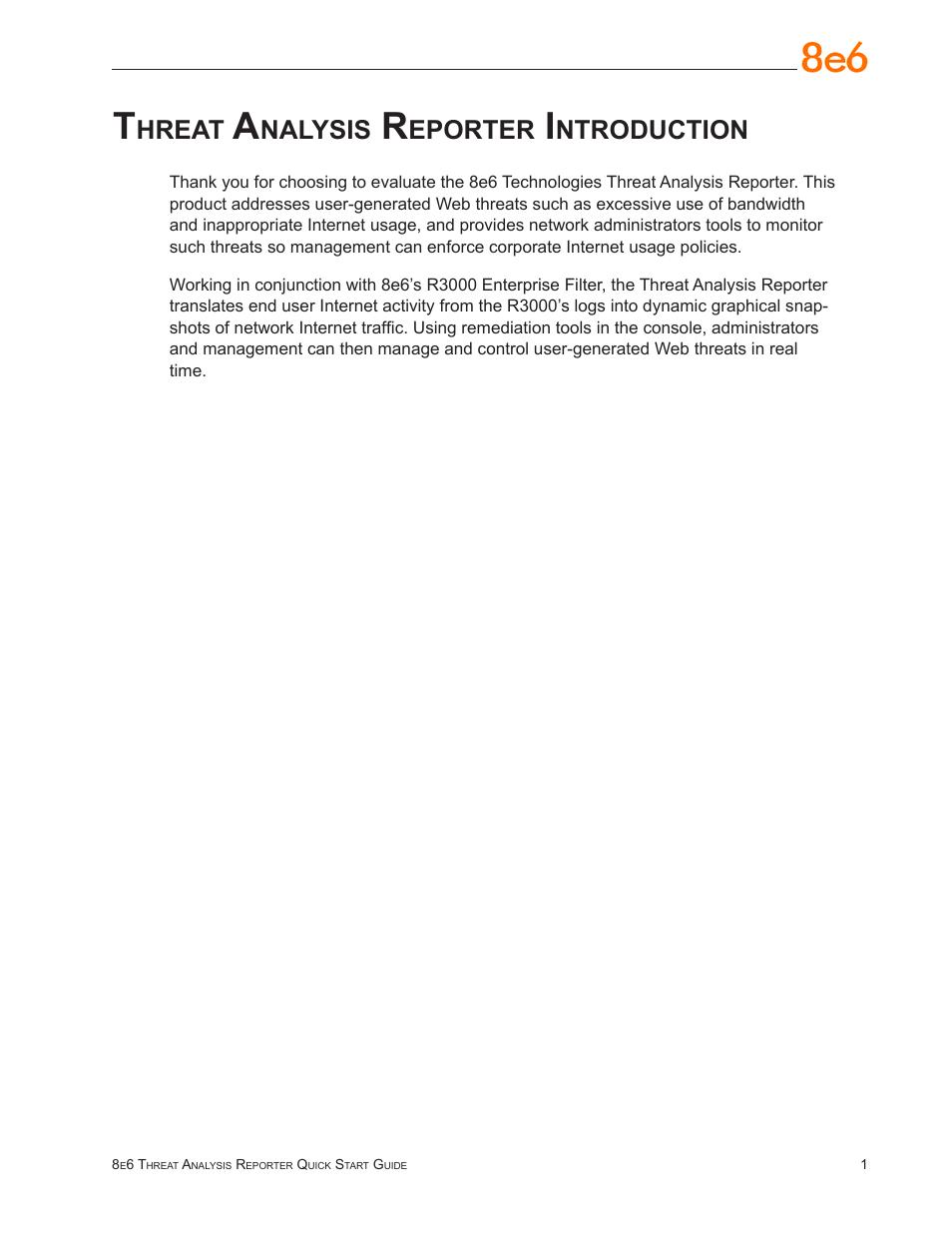 Threat Analysis Reporter Introduction Hreat Nalysis