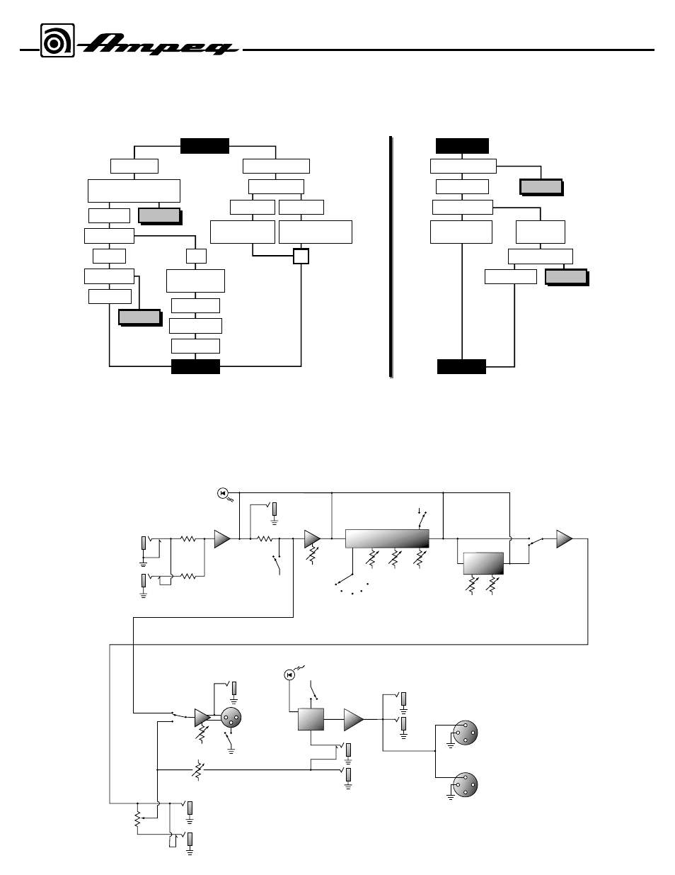 Troubleshooting System Block Diagram Svt1000 Bass Amplifier Fuse Box Speakers Ampeg User Manual Page 7 8