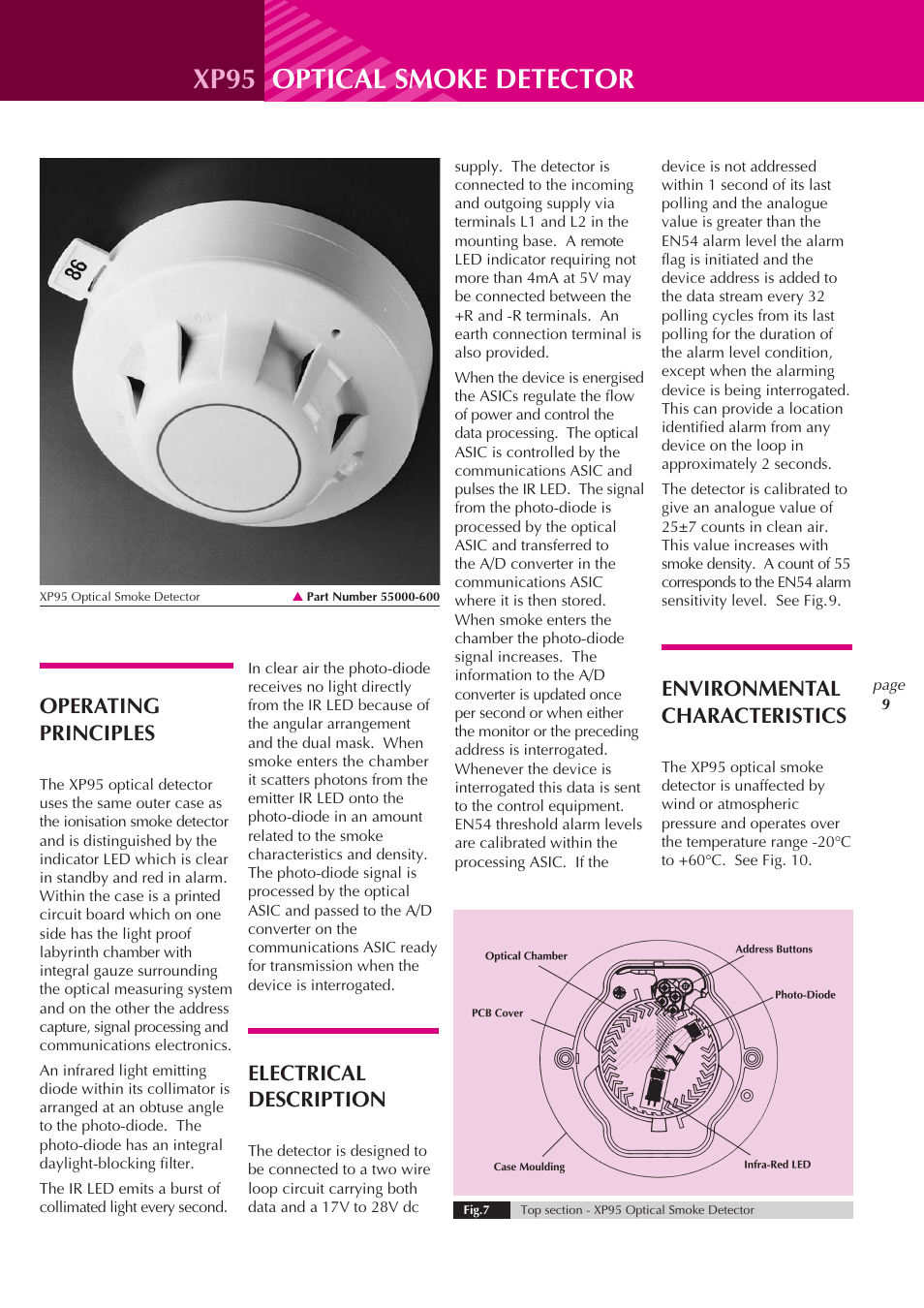 Xp95 Optical Smoke Detector Operating Principles Electrical Apollo Wiring Diagram Description User Manual Page 9 24