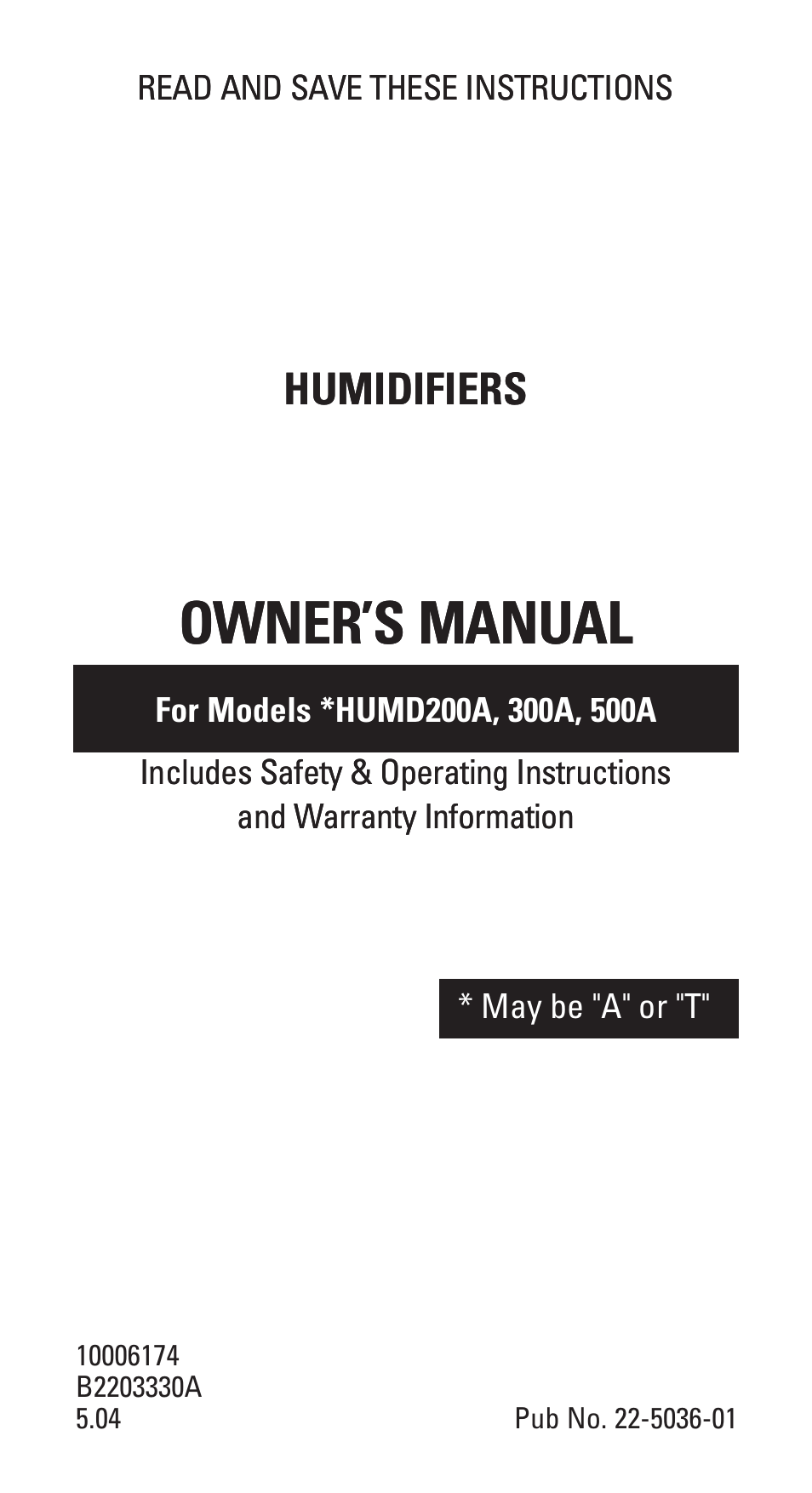 American standard 300a user manual 16 pages also for 200a 500a publicscrutiny Image collections