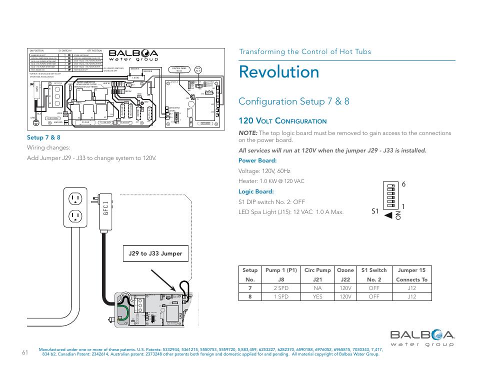 Revolution, Configuration setup 7 & 8, 120 v | Balboa Water Group on 120 volt horn, 120 208 3 phase diagram, maytag neptune dryer diagram, 120 volt water pump, outlet diagram, 120 volt motor, 120 volt generator, 120 volt solenoid, 120 volt alternator, 120 volt plug, 120 208 1 phase diagram, 120 volt wire, three prong plug diagram, 120 240 3 phase diagram, lutron 3-way switch diagram, 240 volt diagram, 120 volt electrical, maytag performa dryer diagram, combination double switch diagram, 50 amp rv plug diagram,