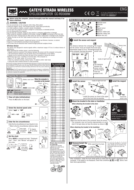 cateye strada cc rd100 manual