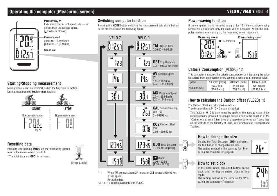 Operating The Computer Measuring Screen Velo 9 Velo 7 Eng 4