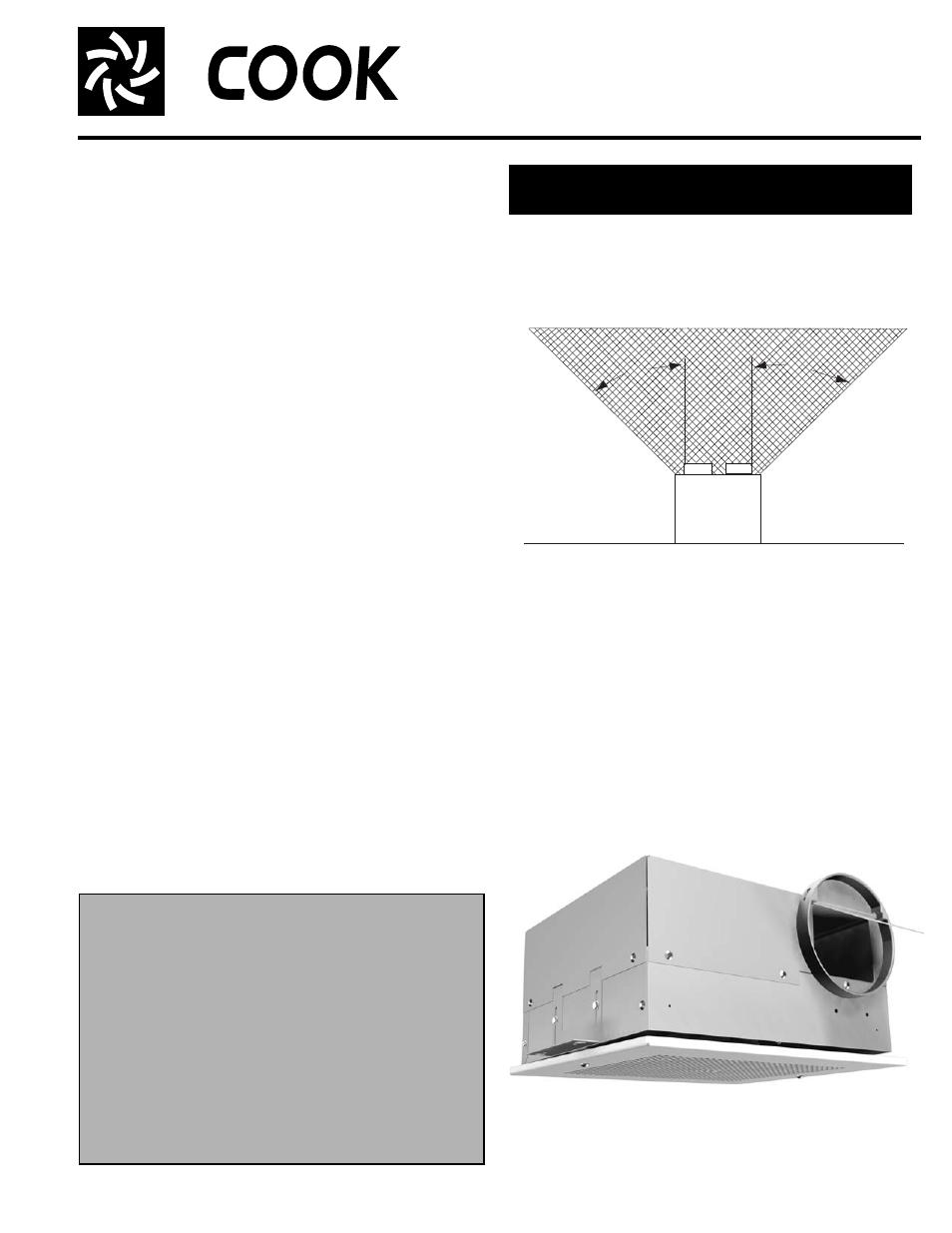 Cook Gemini 100 Series User Manual 4 Pages