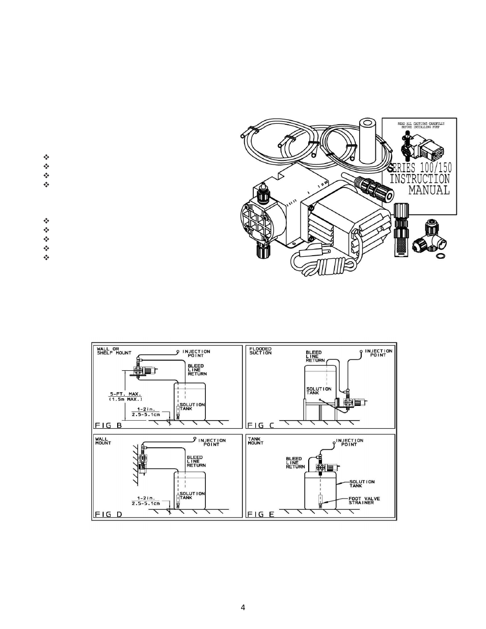 Installation, piping and wiring   Pulsafeeder Chem-Tech