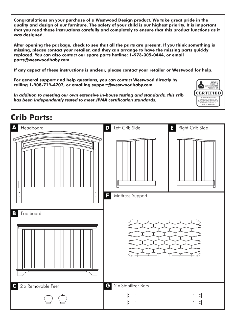 Crib Parts Westwood Design Geneva Convertible User Manual Page 3 11