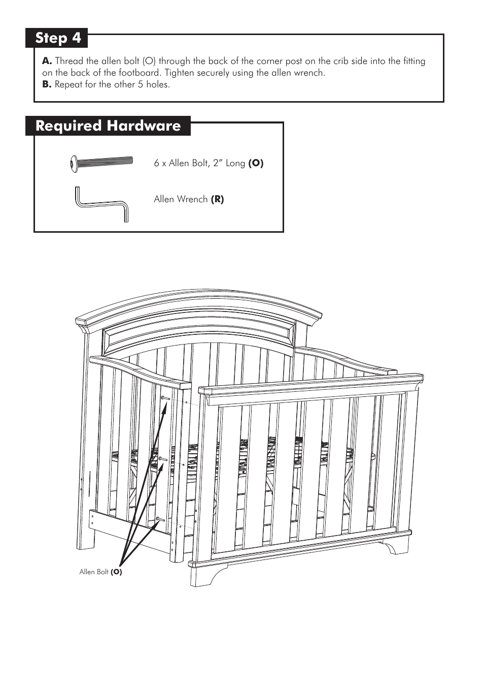 Step 4 Required Hardware Westwood Design Geneva Convertible Crib User Manual Page 8 11