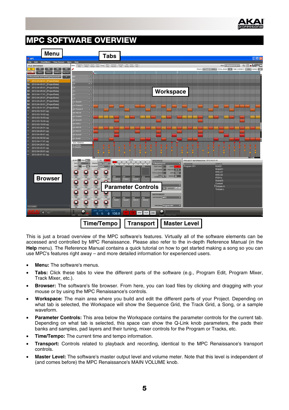 mpc software overview akai mpc renaissance user manual page 5 rh manualsdir com mpc user guide mpc 2000xl user manual
