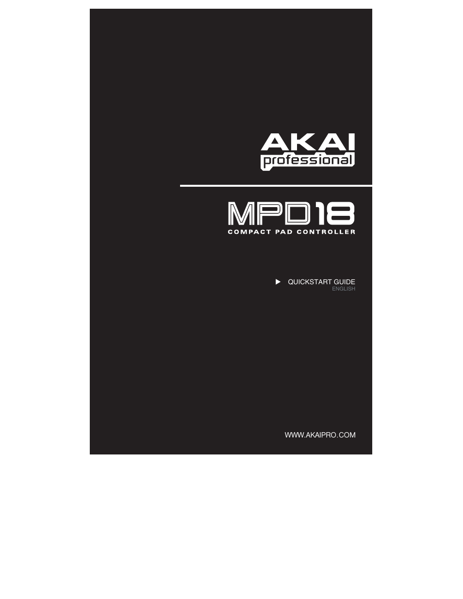 Akai MPD18 User Manual | 7 pages