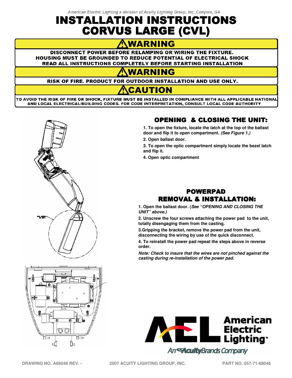 american electric lighting cvl user manual 3 pages rh manualsdir com Wire Money Omega Alarm Wiring Diagrams