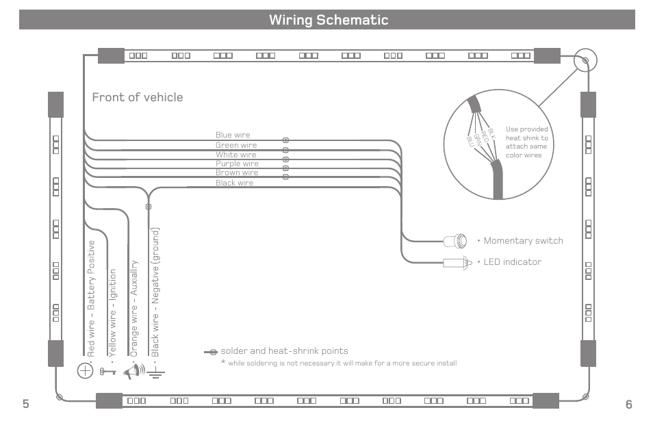 wiring schematic front of vehicle 5 6 varad ulx210 color rh manualsdir com