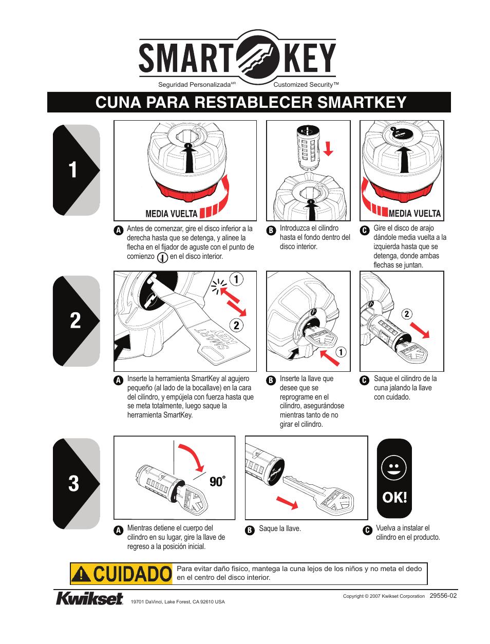 Cuna Para Restablecer Smartkey Kwikset 83260 Smt Reset Cradle User