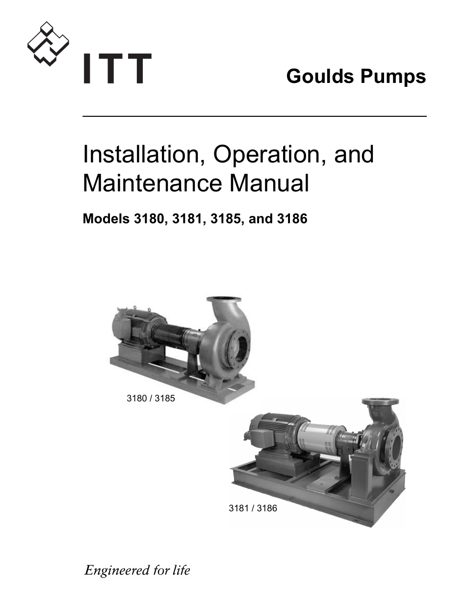 Goulds Pumps 3180-86 - IOM User Manual | 158 pages