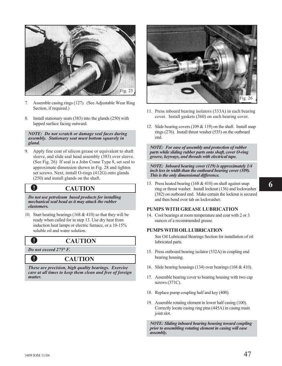 Caution | Goulds Pumps 3409 - IOM User Manual | Page 47 / 68