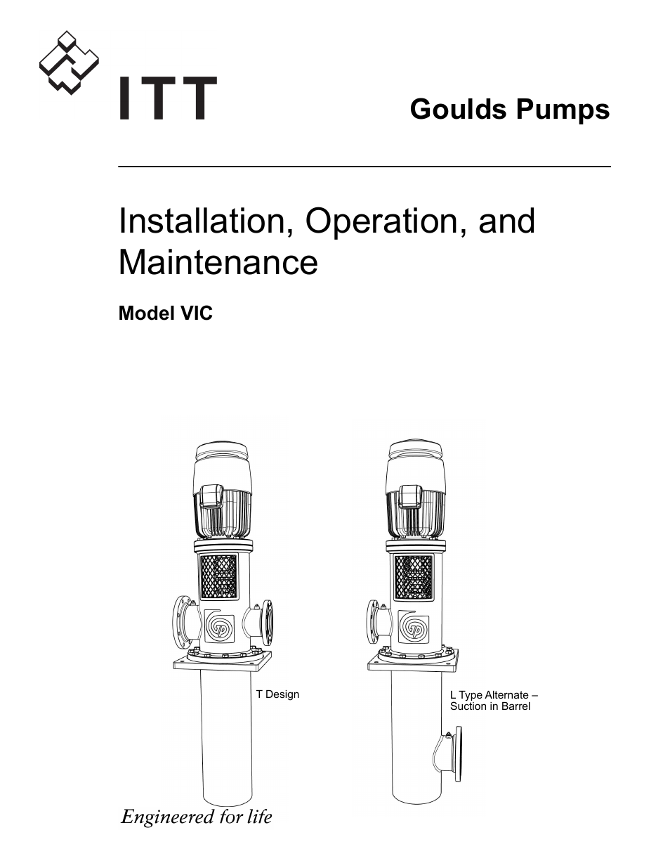 Goulds Pumps VIC - IOM User Manual | 72 pages