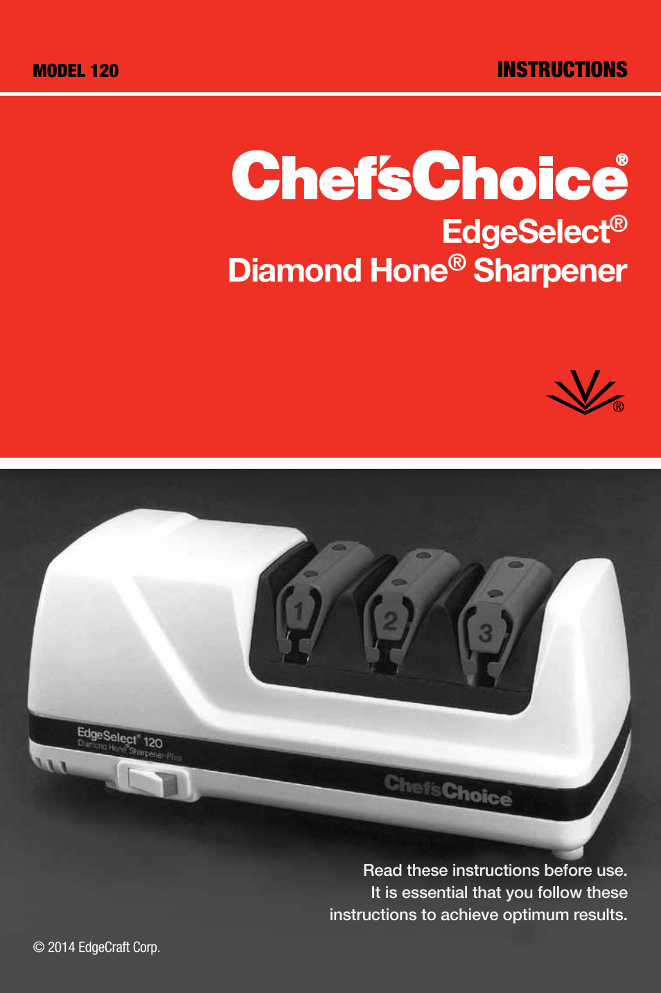 edgecraft chef s choice 120 user manual 12 pages rh manualsdir com Operators Manual Wildgame Innovations Manuals