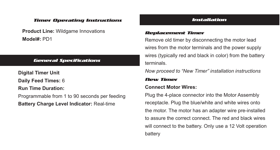 Wildgame innovations wgi-tdxm 6v/12v digital timer walmart. Com.