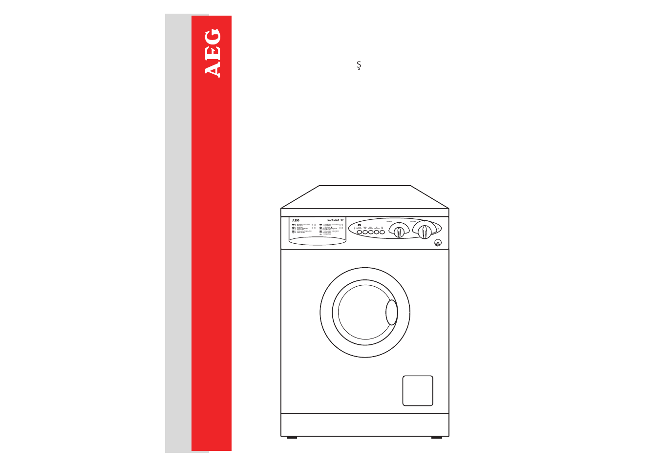aeg lavamat 97 115 user manual 39 pages original mode. Black Bedroom Furniture Sets. Home Design Ideas
