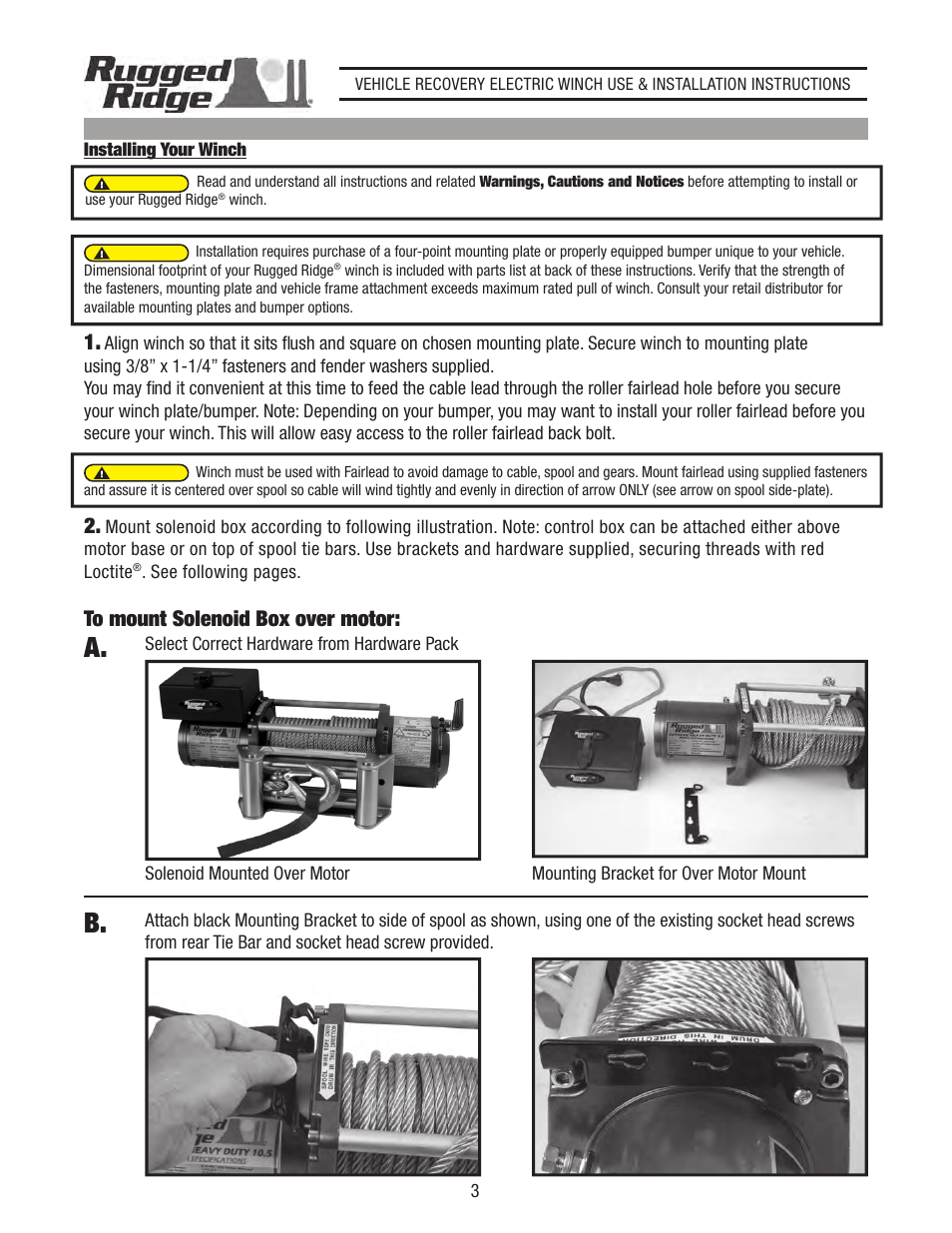 Rugged Ridge Heavy Duty 8500 Lbs Off Road Winch User Manual Page 4 Solenoid Wiring Diagram 3 14