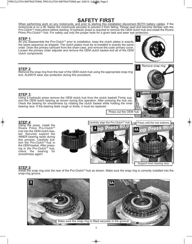 rivera pro clutch instructions