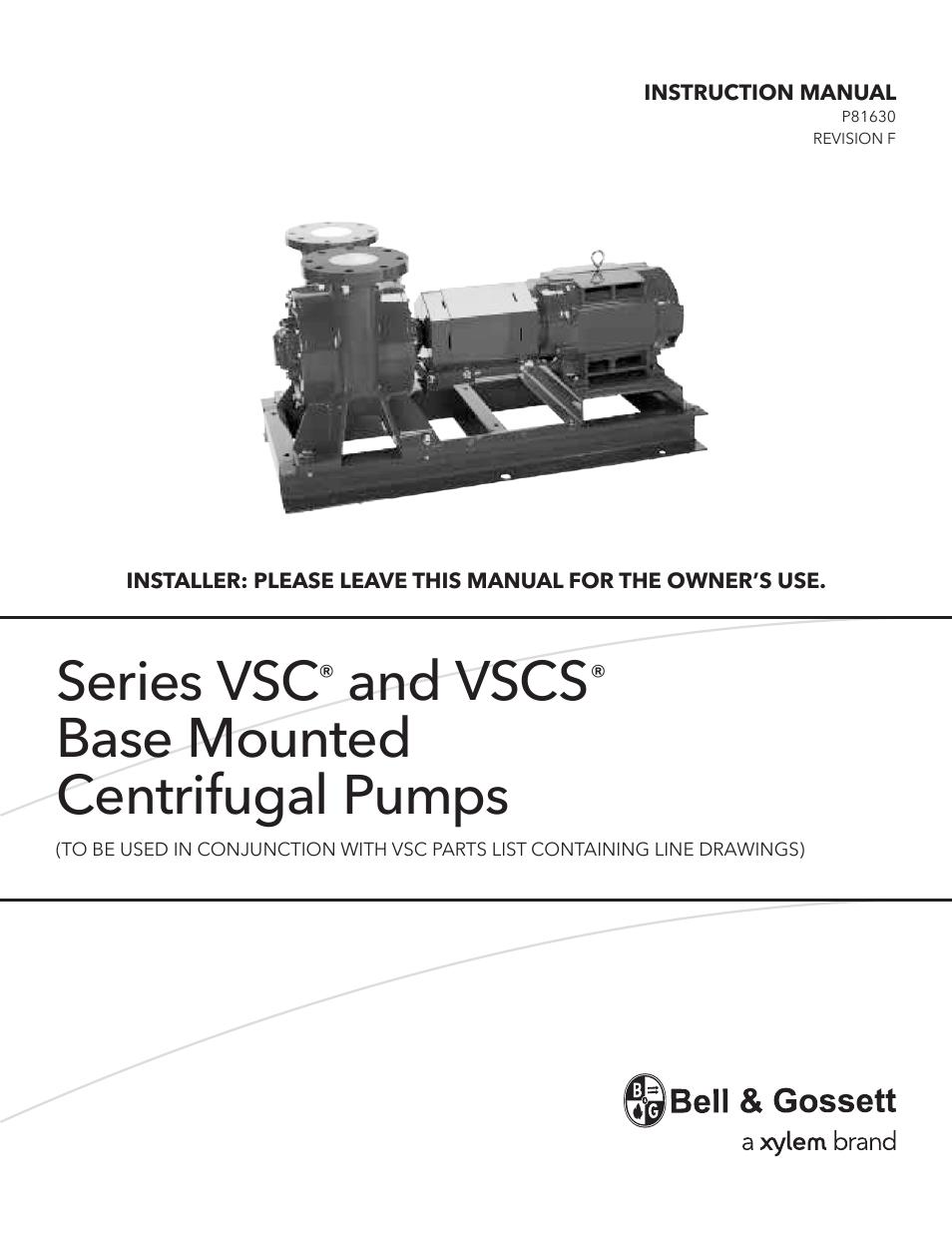 bell gossett p81630f series vscs base mounted centrifugal pumps page1 bell & gossett p81630f series vscs base mounted centrifugal pumps