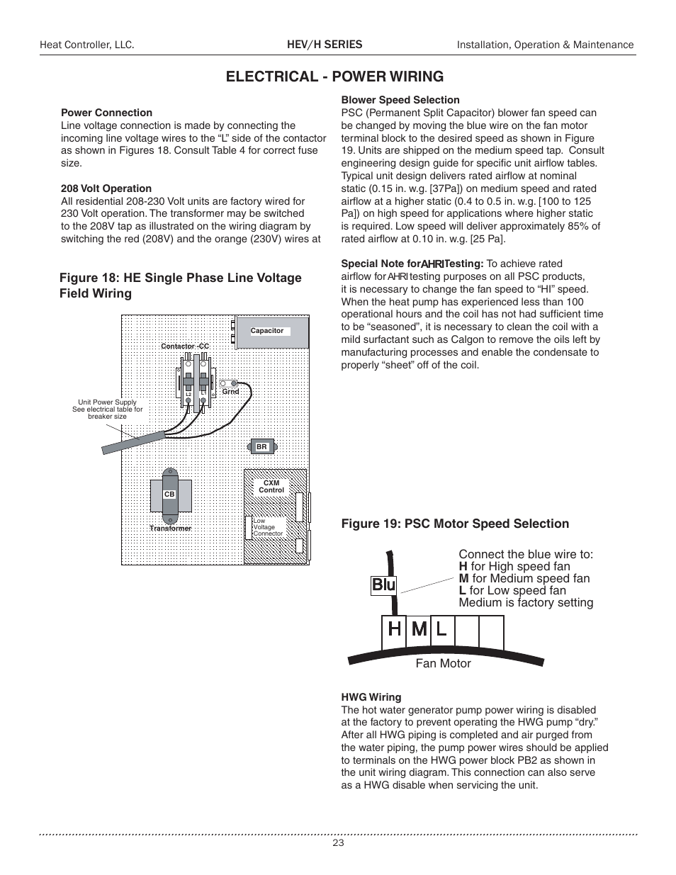 Electrical Power Wiring Hev H Series Comfort Aire Heh 2 Psc Motor Diagram Repalcement Parts And