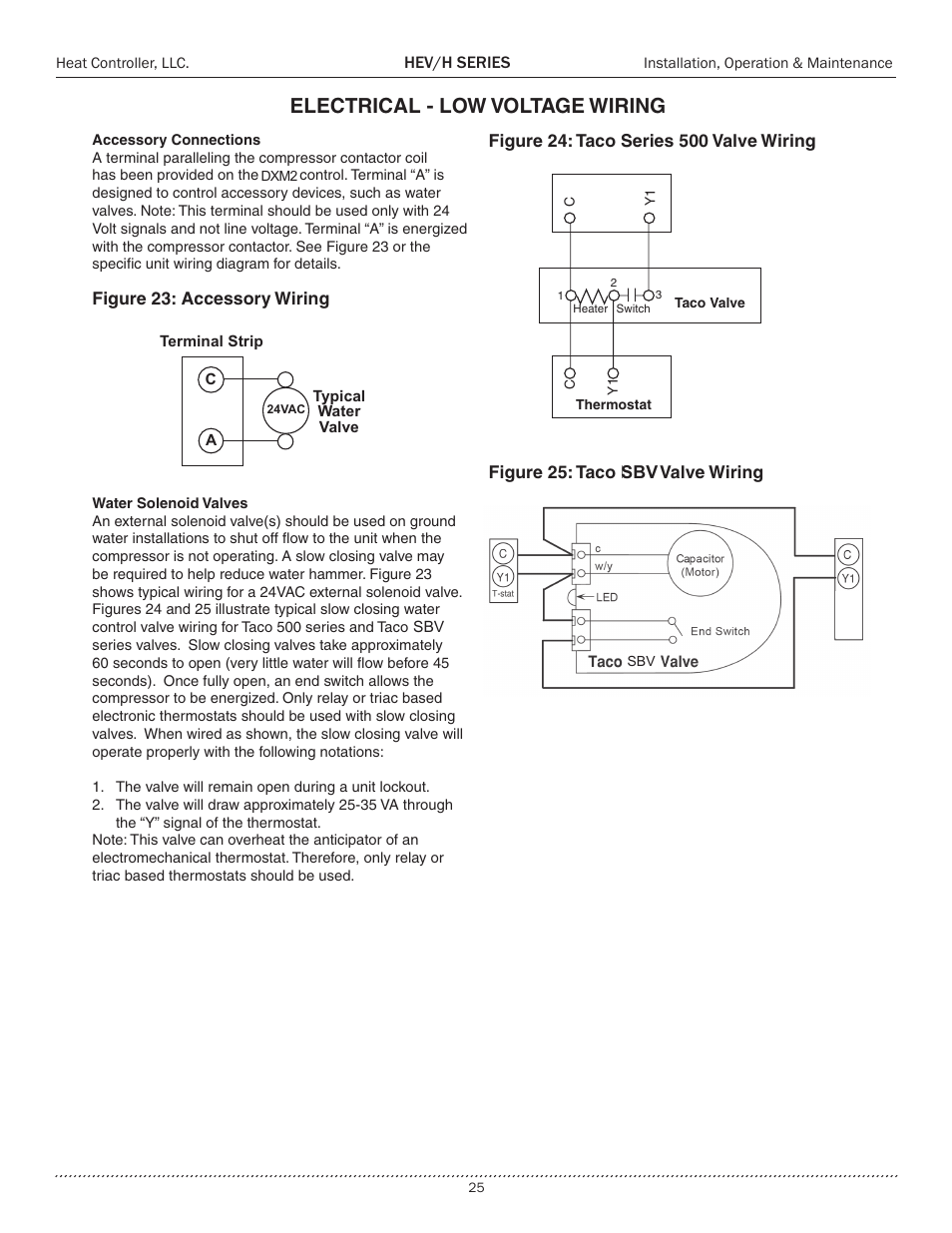 electrical - low voltage wiring | comfort-aire heh series 2 to 5 tons user  manual | page 25 / 46