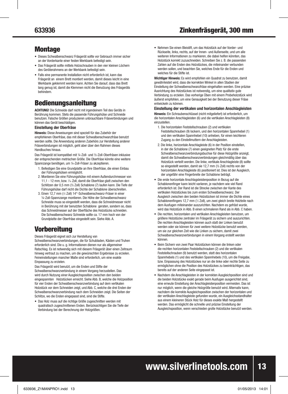 Silverline Dunstabzugshaube Bedienungsanleitung 2021