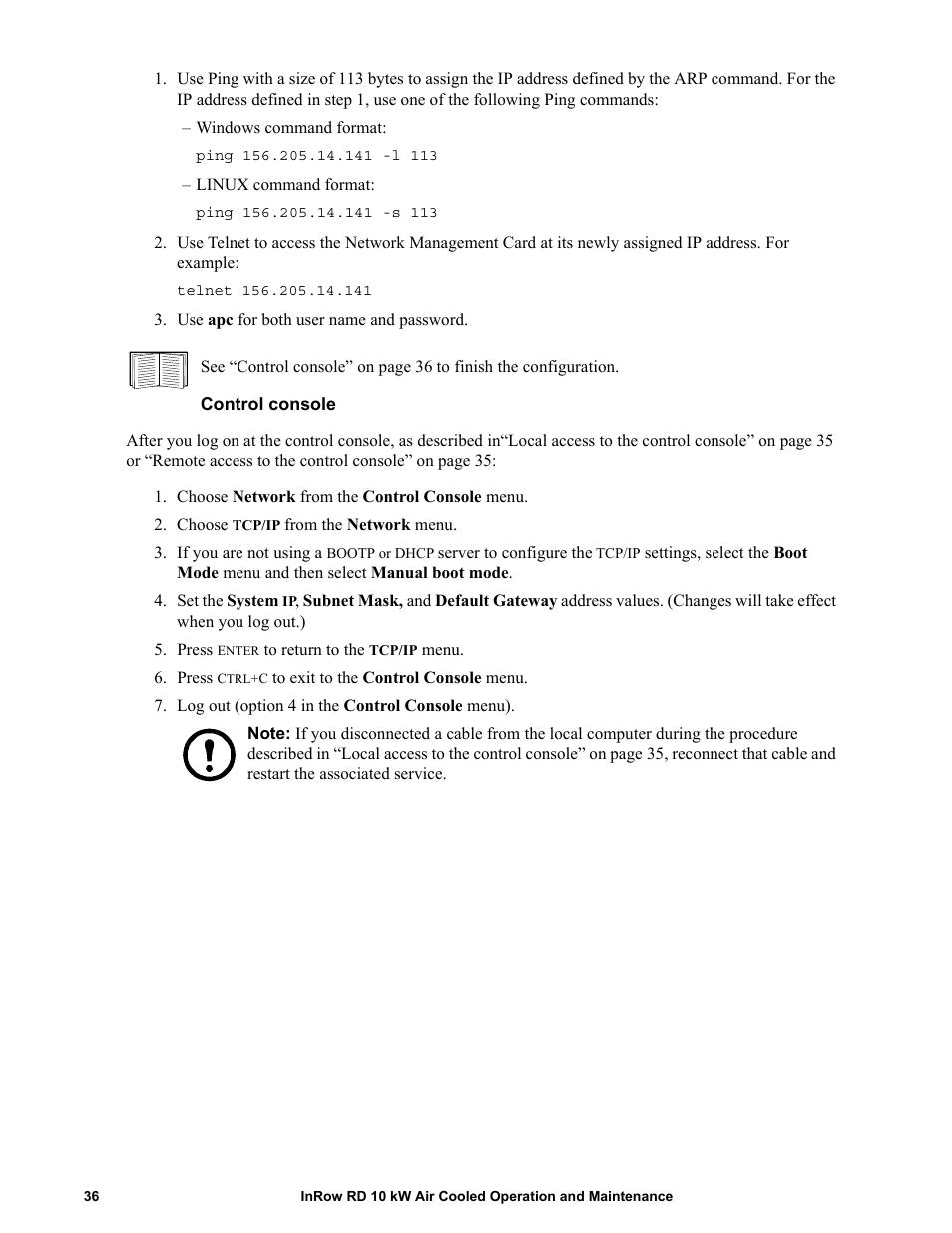 control console apc in row rd acrd101 user manual page 44 56 rh manualsdir com Console Operator at Computer control console operating manual wow