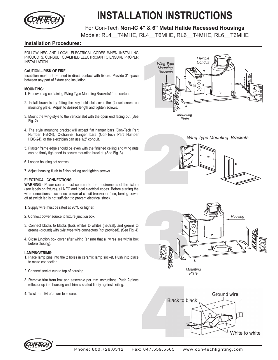 ConTech Lighting RL420T6MHE User Manual | 1 page | Also for
