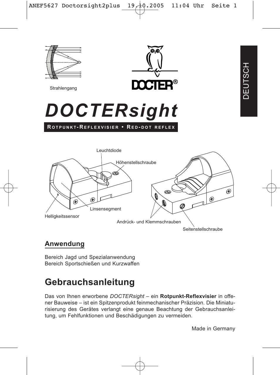 DOCTER DOCTER®sight II plus User Manual | 32 pages