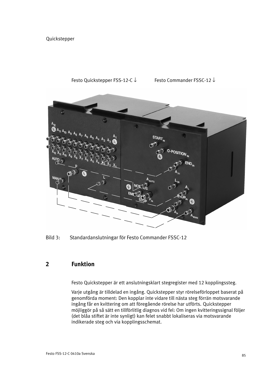 2 funktion, 2funktion | Festo Quickstepper FSS User Manual | Page 85 / 100